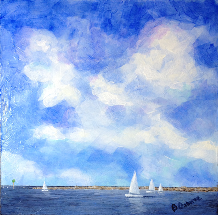 Florida, water, sailboat, sailing, clouds, blue, One Size Fits All, CAA,